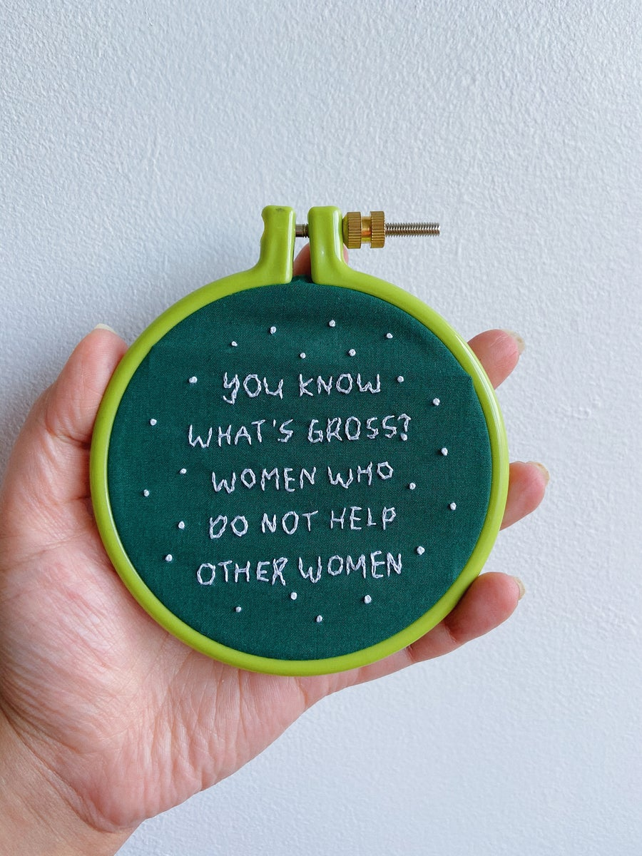 Image of WOMEN SUPPORT WOMEN - Embroidery