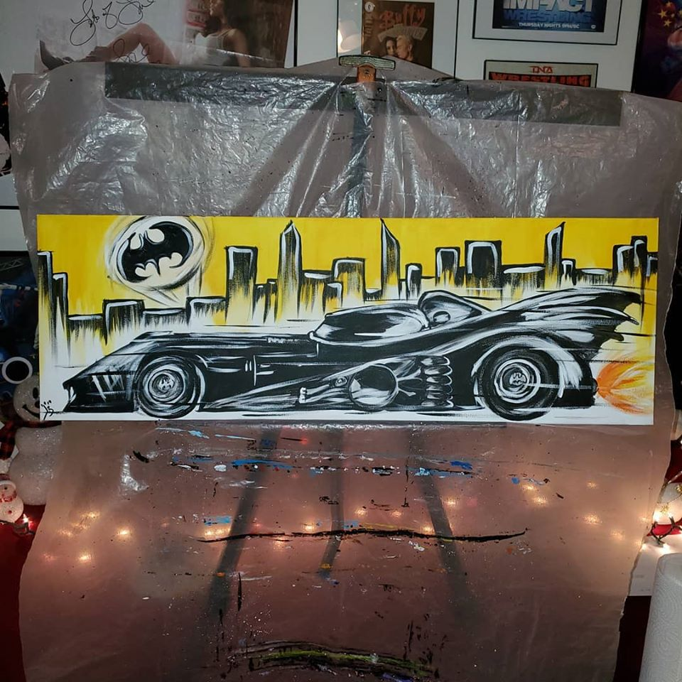 "Image of ""A Mobile for a Bat"" Painting"