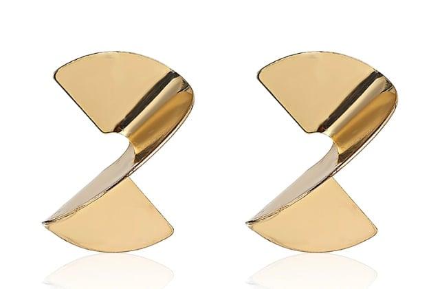 Image of Gold Twist Statement Earrings