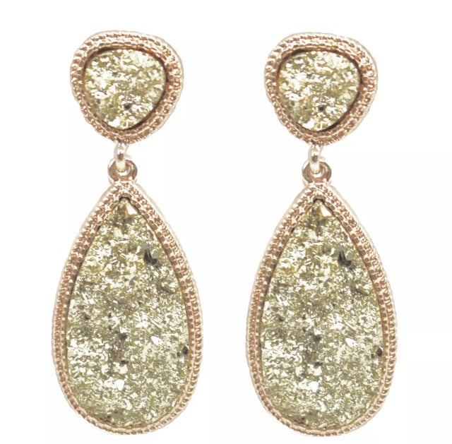 Image of Rose Gold Sparkle Earrings