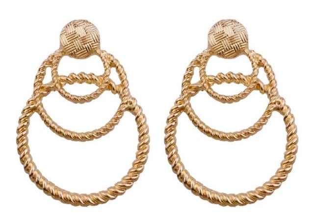 Image of Gold Circular Statement Earrings