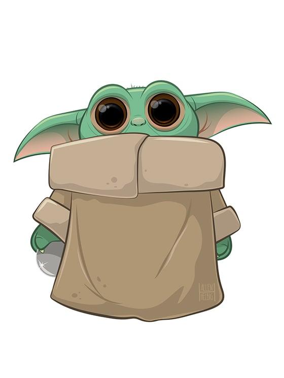 Image of Baby Yoda print