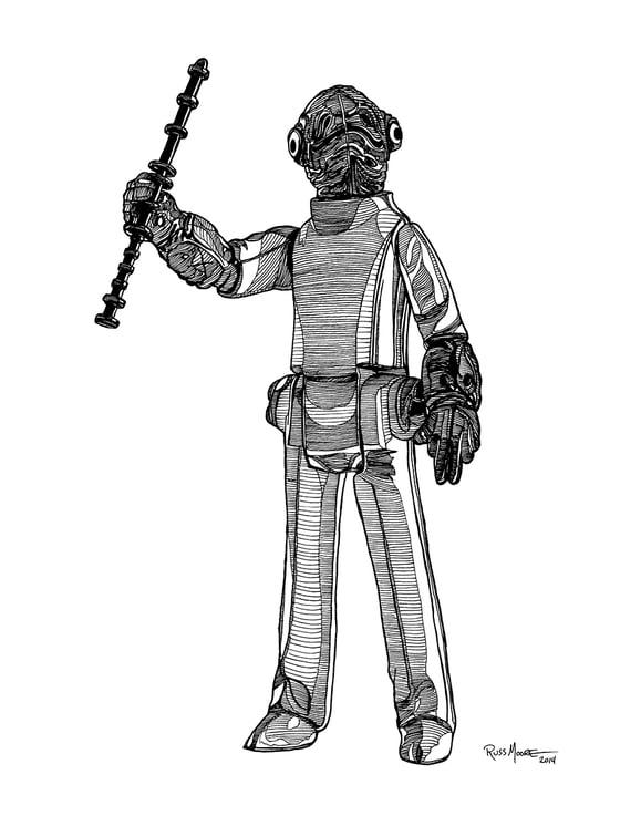 Image of Admiral Ackbar Original Ink Art