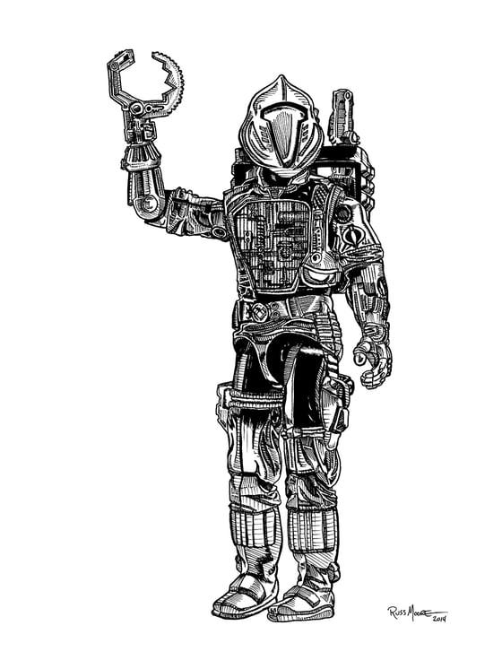 Image of GI Joe B.A.T.S. Original Ink Art