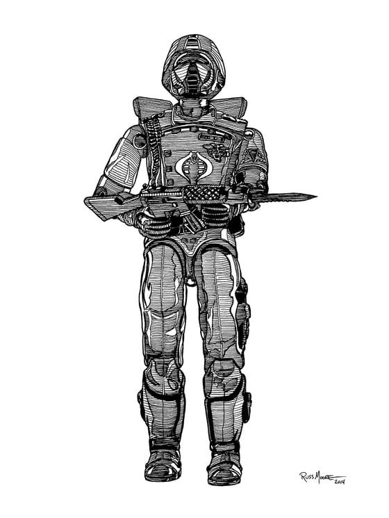 Image of GI Joe Crimson Guard Original Ink Art