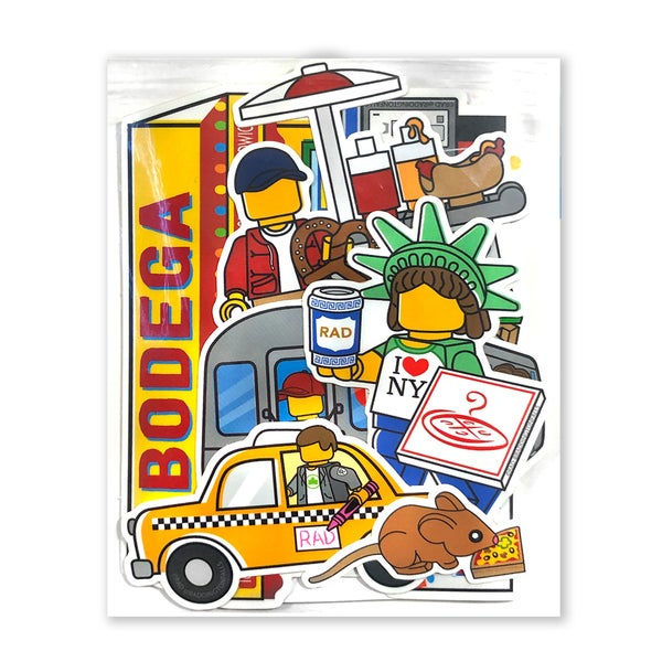 Image of NYC Series Stickers 11 Pack -  Free Shipping USA