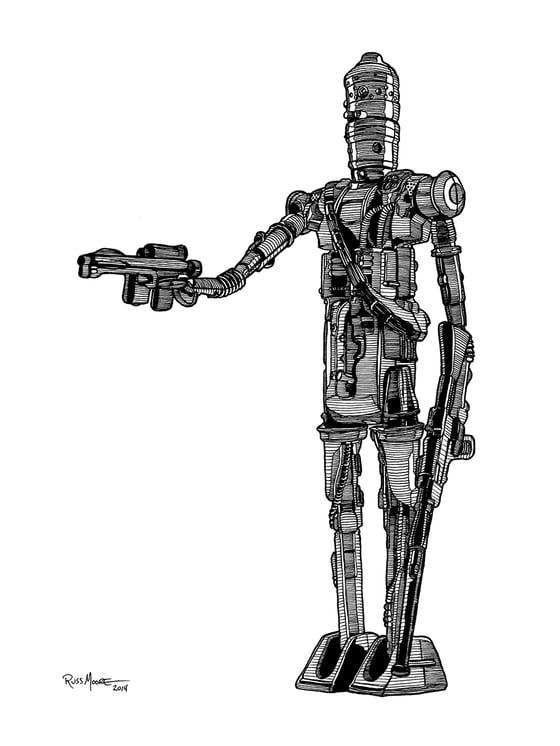 Image of Star Wars IG-88 Original Ink Art