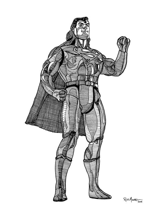 Image of Super Powers Superman Original Ink Art