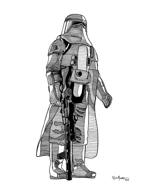 Image of Star Wars Snowtrooper Original Ink Art