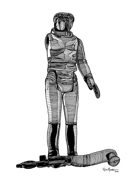 Image of Star Wars Walrus Man Original Ink Art