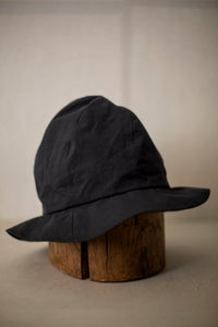 Image of Hand crafted hat in black cotton by Der Antagonist