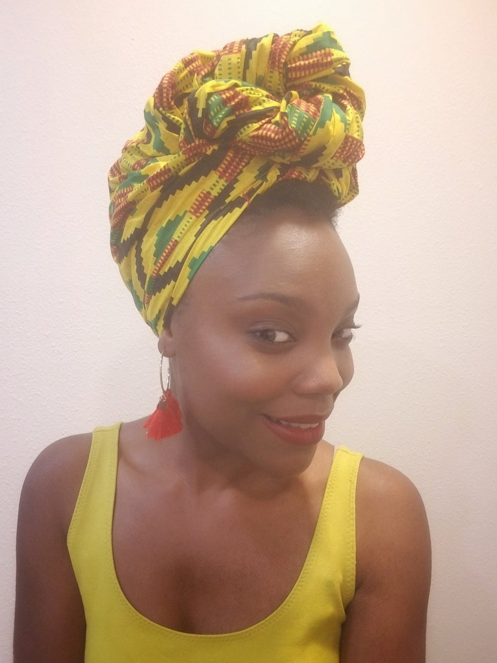 Image of YELLOW KENTE - HEADWRAP