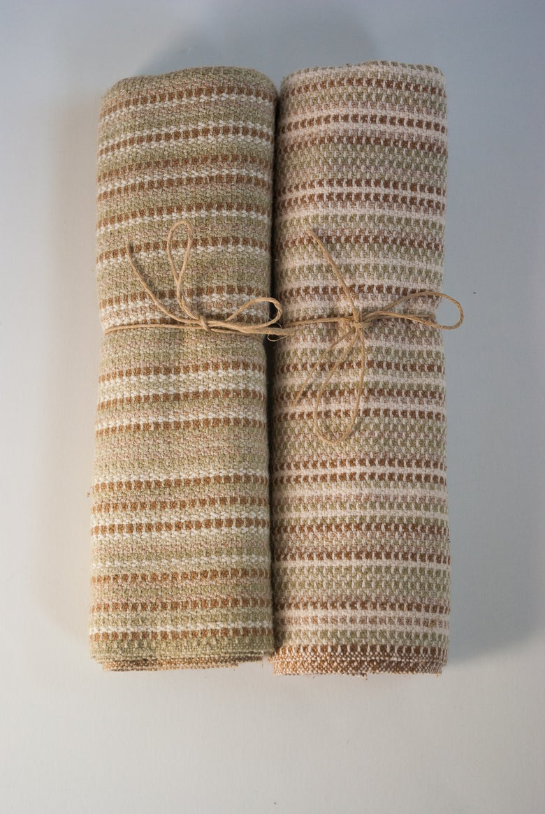 Image of holding spring and autumn napkins a
