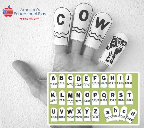 Image of Alphabet Finger Puppet Set