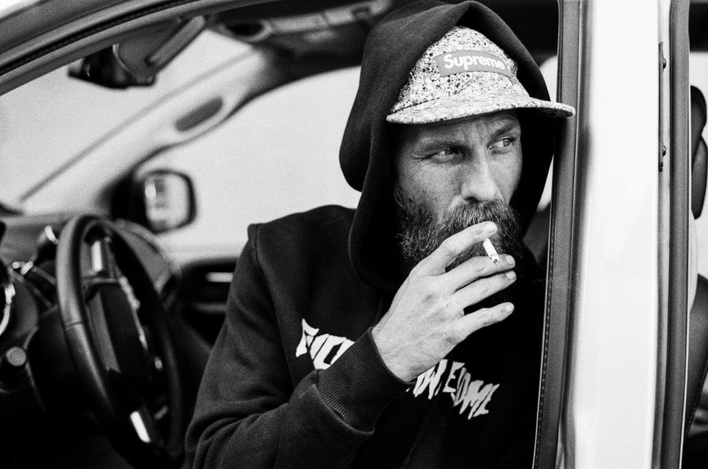 Image of Jason Dill, Smoke Break.
