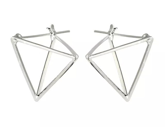 Image of Gold Pyramid Earrings