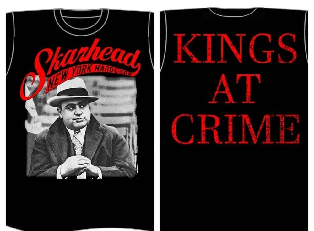 Image of SKARHEAD CAPONE KINGS AT CRIME T SHIRTS (IN STOCK)