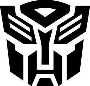 Image of transformers autobot vinyl sticker