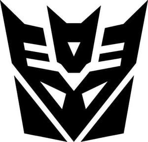 Image of Transformers Decepticon vinyl sticker