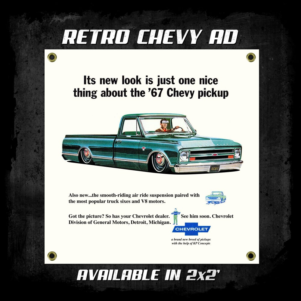 Image of Retro Chevy Ad Banner