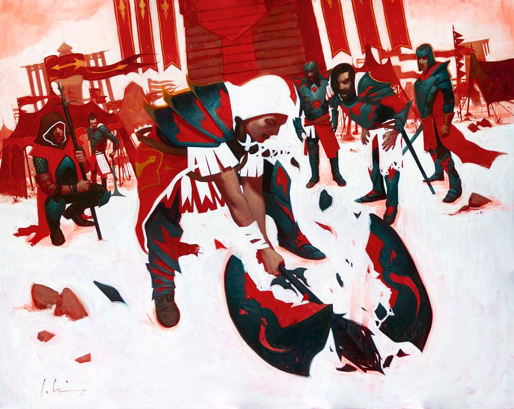 Image of Embereth Shieldbreaker - ARTIST PROOF - Foil