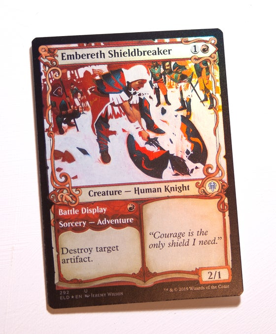 Image of Embereth Shieldbreaker - ARTIST PROOF - Foil