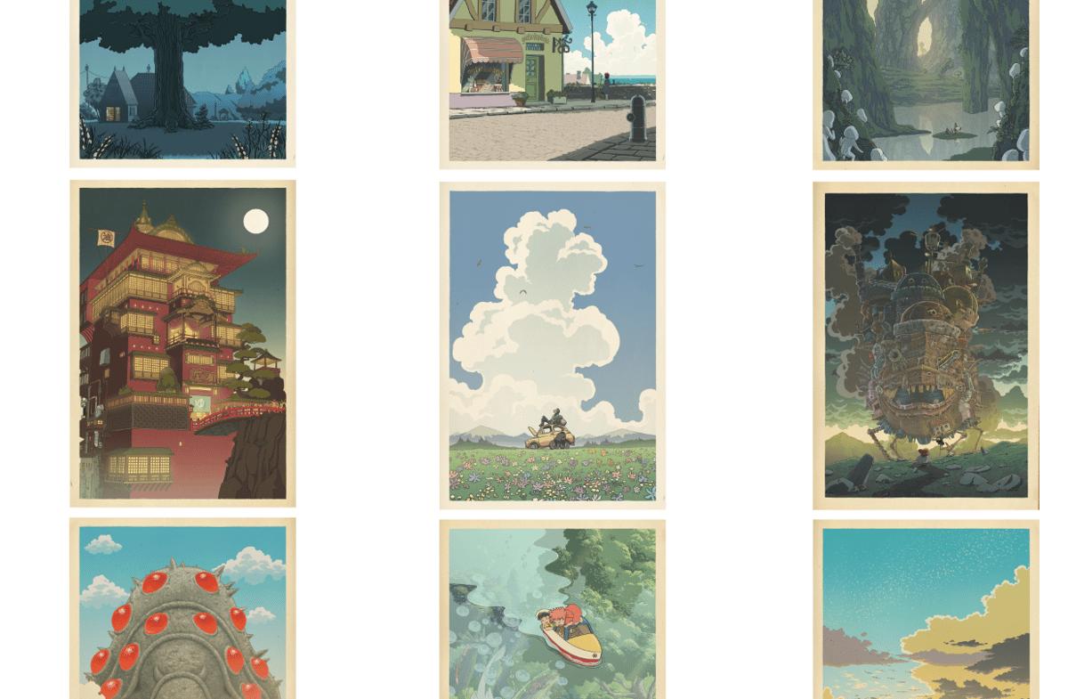 Image of Miyazaki/Hasui compilation (horizontal)
