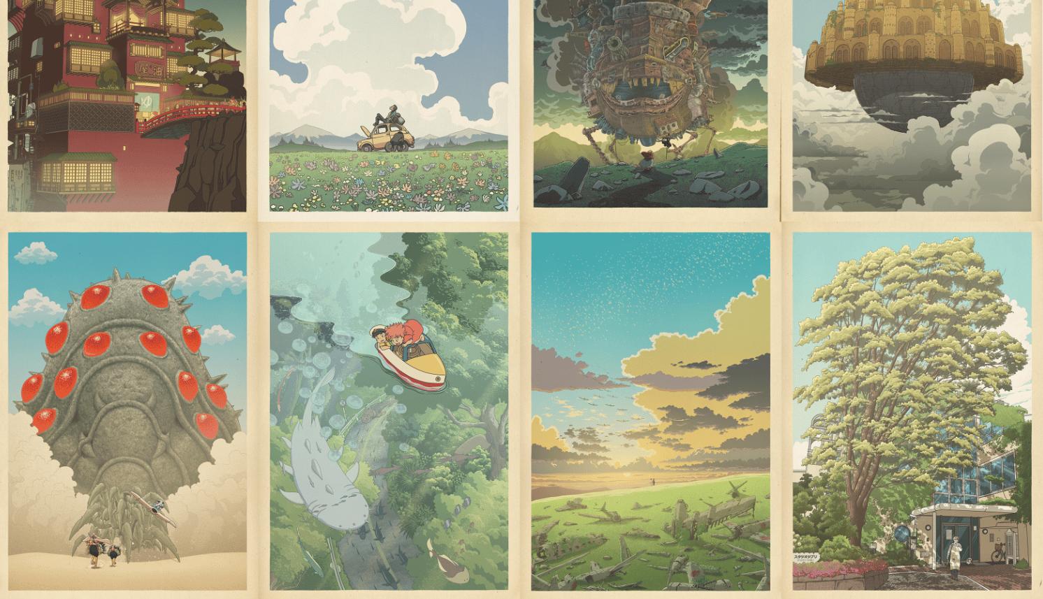 Image of Miyazaki/Hasui compilation (horizontal) 24x 36