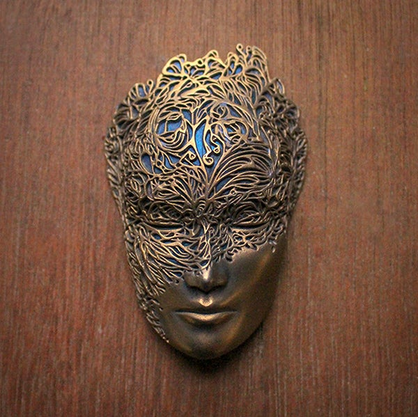 Image of Mini Dreamer Mask (Gold+Turquoise) by Lumecluster