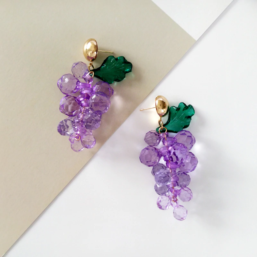 Image of GEMS OF GRAPES EARRINGS