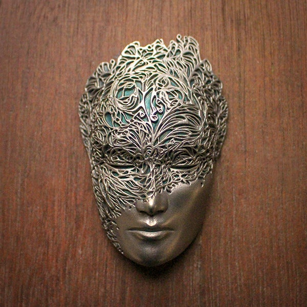 Image of Mini Dreamer Mask (Pale Gold+Green) by Lumecluster