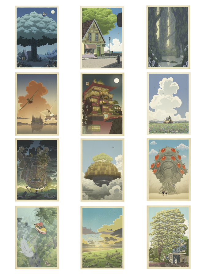 Image of Miyazaki/Hasui compilation (vertical) 24 x 36