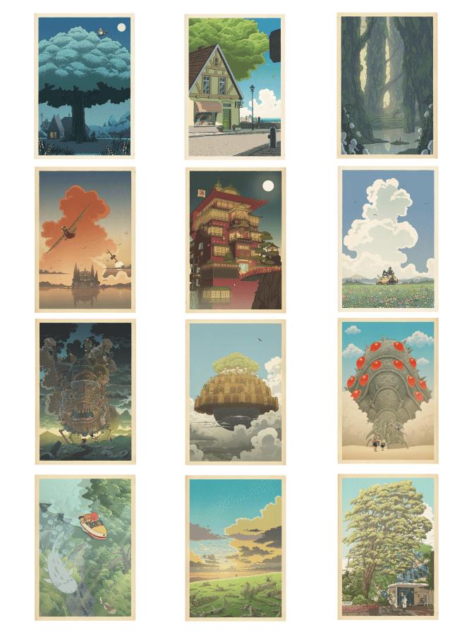 Image of Miyazaki/Hasui compilation (vertical)