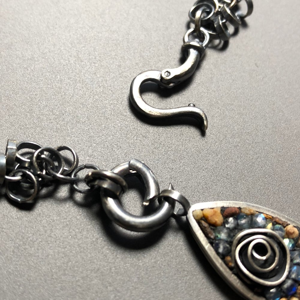 Image of River Rock Fish Leaf Bracelet/Pendant