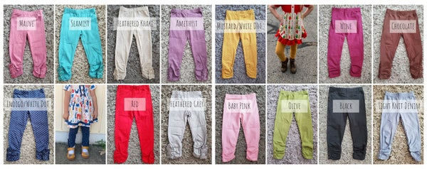 Image of Ruched Button Pants with & without Ruffle