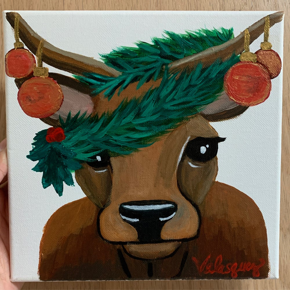 Image of Christmas Cow