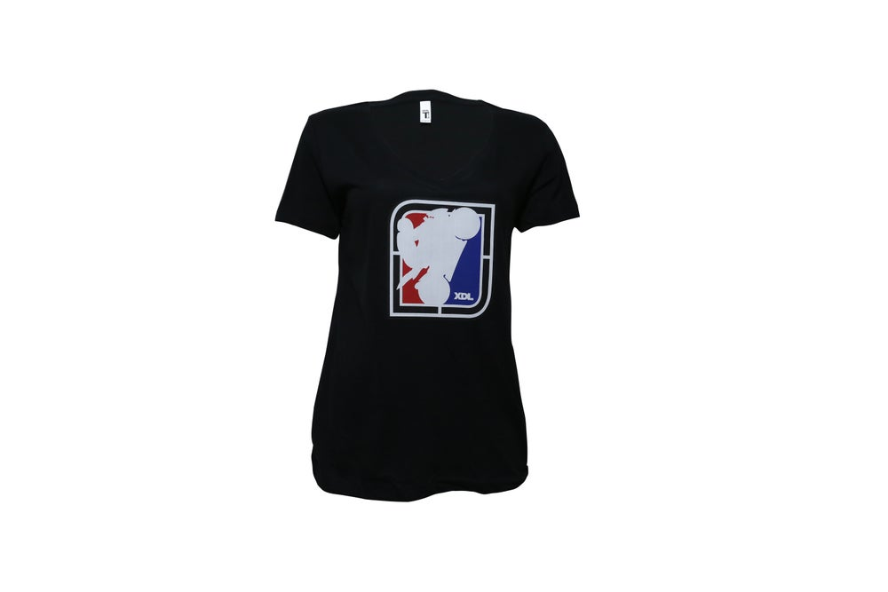 Image of Women's XDL SQ Logo V-neck