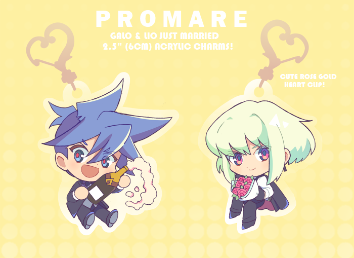 "Image of Galo & Lio [Just Married!] 2.5"" Acrylic Charms"