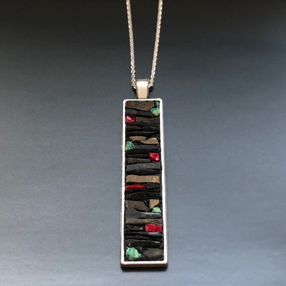 Image of Stacked Micro Mosaic Pendant or Earrings