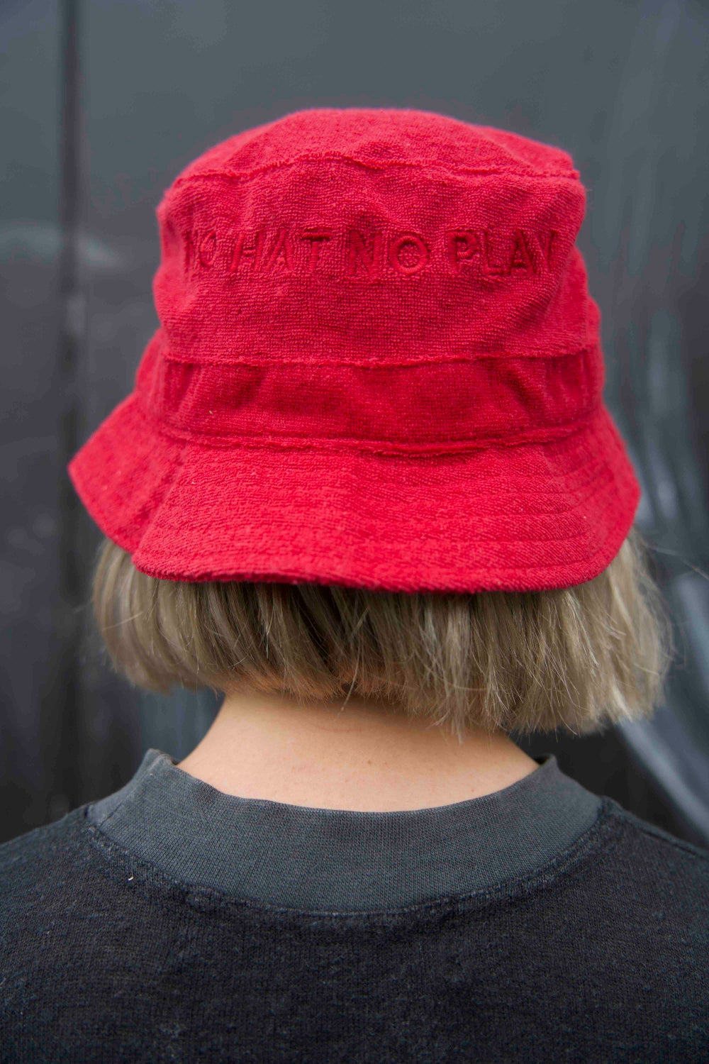 Image of No Hat No Play Bucket Hat (Red)