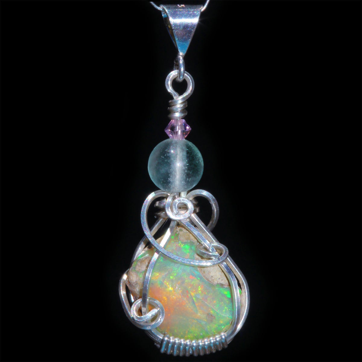 Ethiopian Opal Handmade Pendant