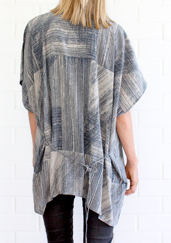 Image of Lines Print Kimono