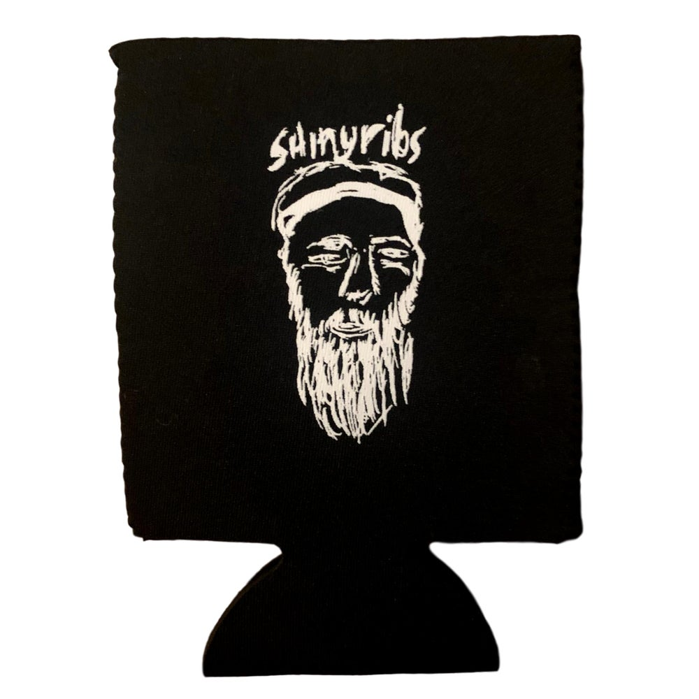 Image of Shinyribs Self-Portrait Sketch Koozie (B&W)