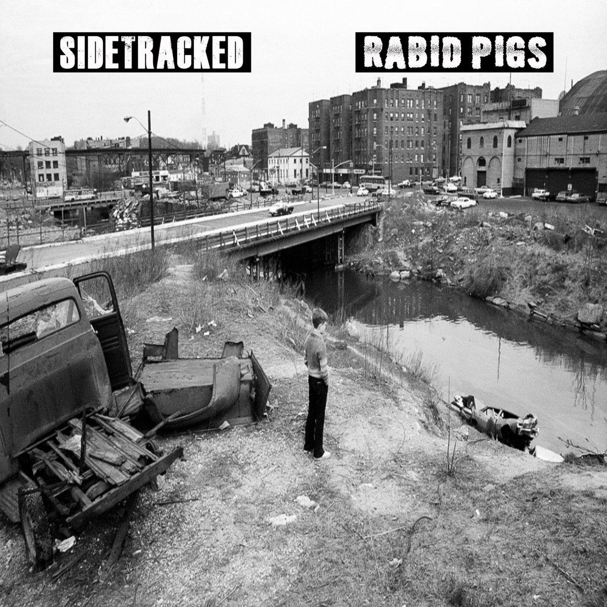 "Image of Sidetracked / Rabid Pigs ""split"" 7"""