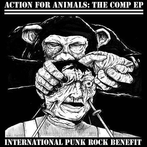 "Image of Action For Animals: The Comp EP 7"" (Download+Button+Sticker)"