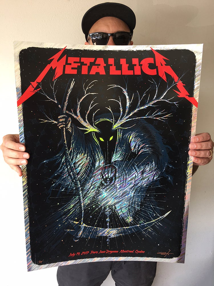 Image of Archive Sale - Metallica Montreal Moon Lava Posters