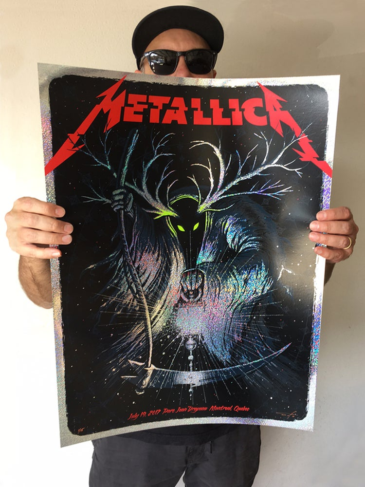 Image of Archive Sale - Metallica Montreal Speckle Foil Poster