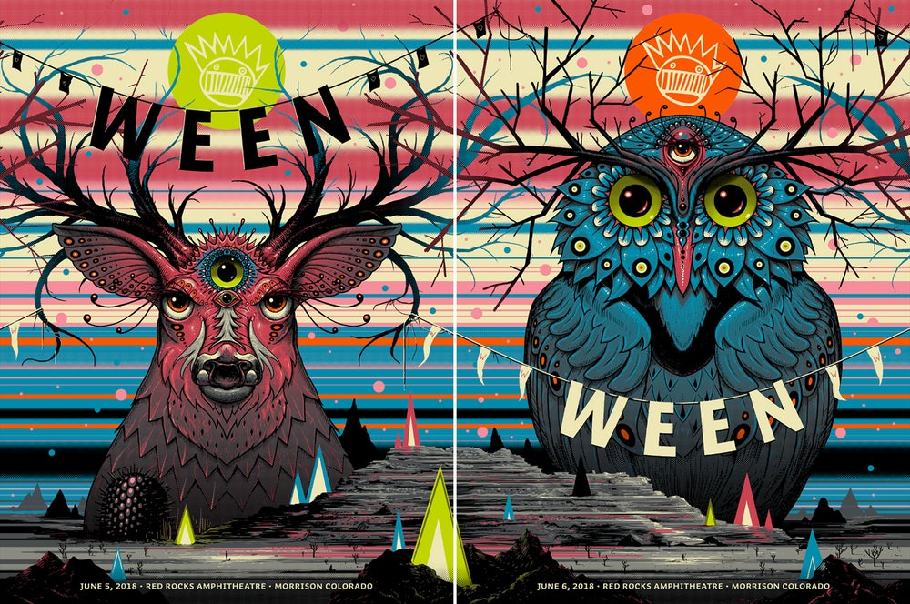 Image of Archive Sale - Ween Red Rocks Poster Set