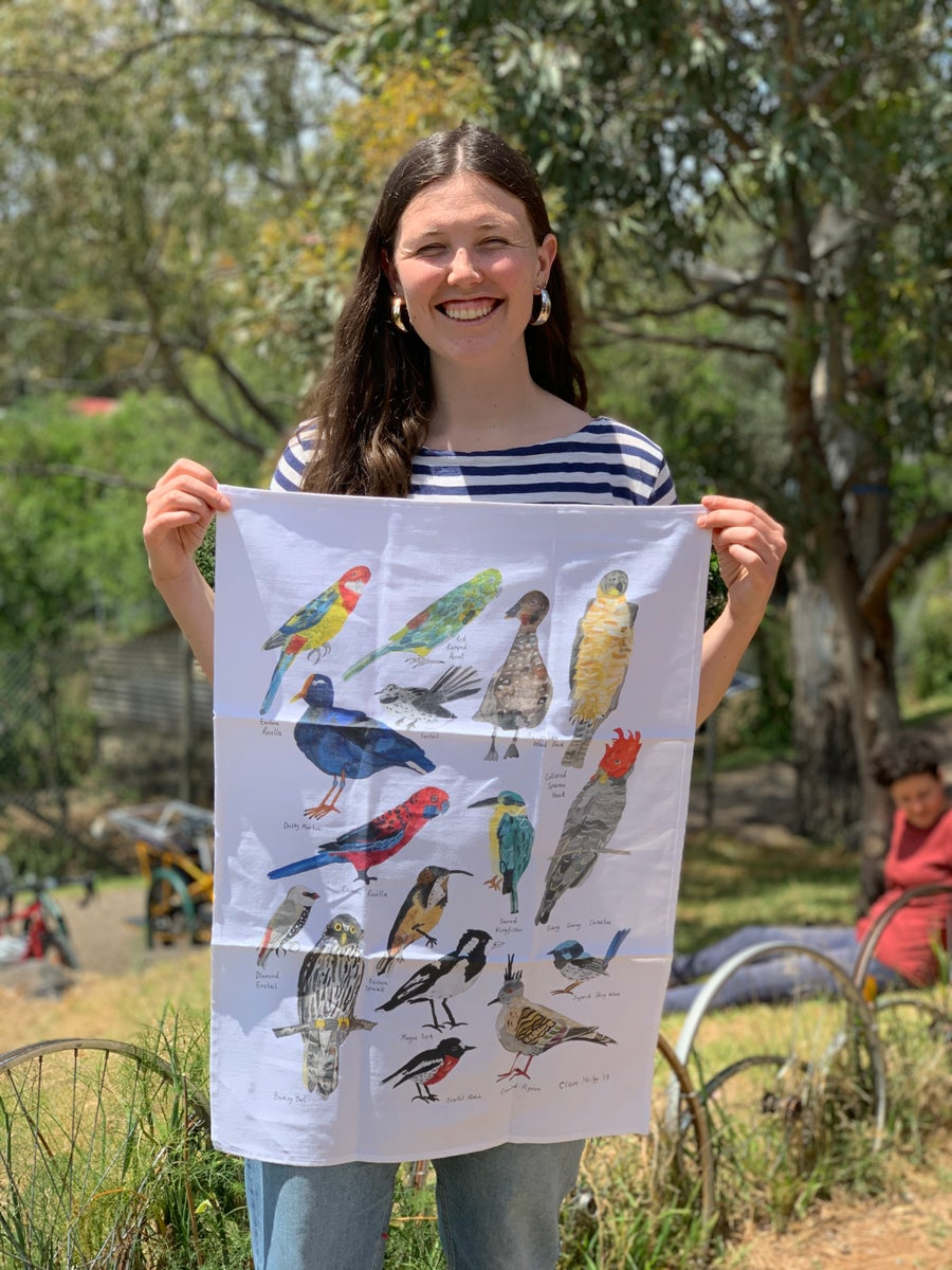 Image of Birds of Narrm Two - A Tea Towel