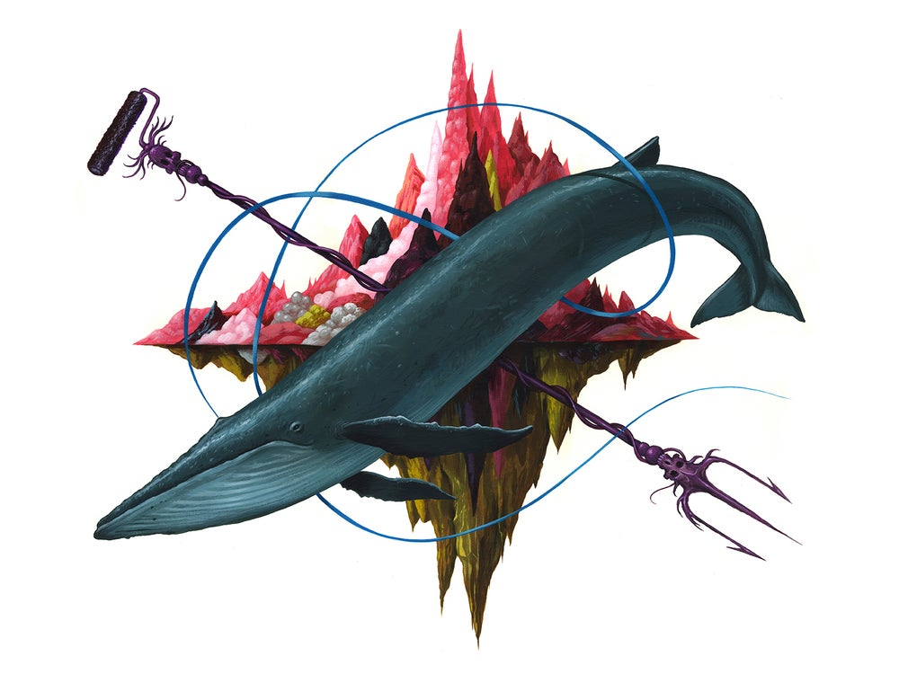 Image of Archive Sale - The Blue Whale Original Painting